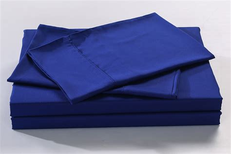 Bamboo Bed Sheet Set Royal Comfort 100 Bamboo Bed Sheet Set Indigo Ebay