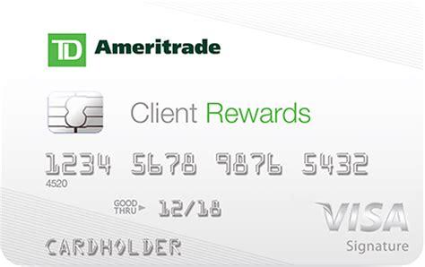 Td Bank Visa Gift Card Fee - td ameritrade client rewards visa best credit cards us news money
