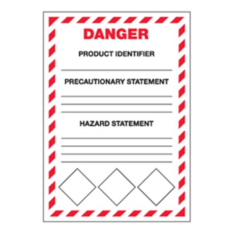 Ghs Secondary Container Labels Danger Header Seton Canada Container Label Template
