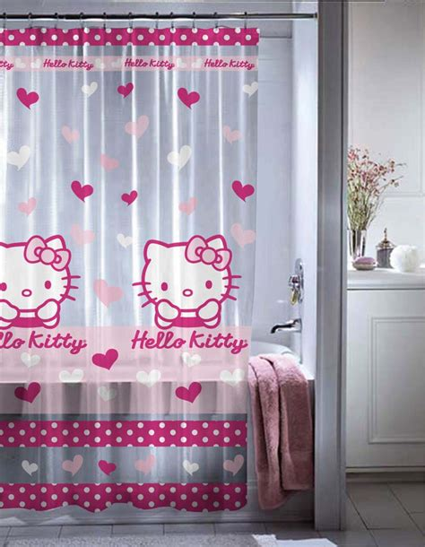 hello kitty shower curtains brand new in orginal package material pvc size 180cm