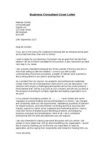 Consultant Cover Letter Sle Cover Letter For Consultant 28 Images Interesting Cover Letter Sles For Management And Sle