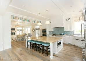 Turquoise Kitchen Island by Turquoise Subway Tiles Cottage Kitchen Hiya Papaya