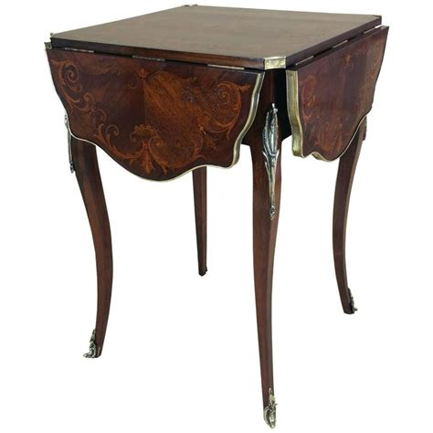 Table With Folding Sides Marquetry Inlaid Rosewood Centre Table With Four Folding Sides At 1stdibs