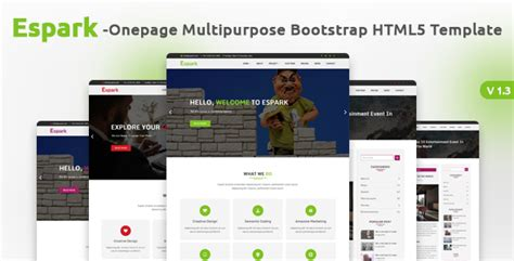 bootstrap templates for village espark onepage multipurpose bootstrap html5 template by