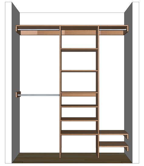 Closet Storage Shelf by Diy Closet Organizer Plans For 5 To 8 Closet