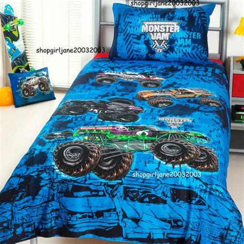 monster jam comforter set monster jam trucks mash grave digger double full bed quilt