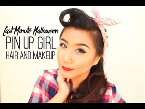 hair and makeup tutorials youtube last minute halloween pin up girls hair and makeup