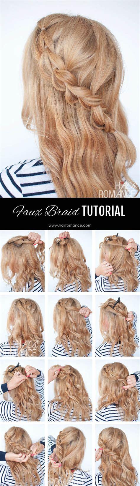 how to do the twist braid step by step the no braid braid 5 pull through braid tutorials hair