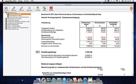 Nachzahlung Musterschreiben Wiso Steuer Mac 2012 F 252 R Steuerjahr 2011 De Software
