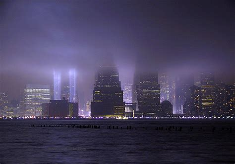 nyc light locations tribute in light ceremony in former wtc location maciej