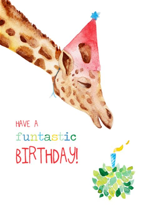 printable birthday cards giraffe greeting cards birthday cards felicity french illustration