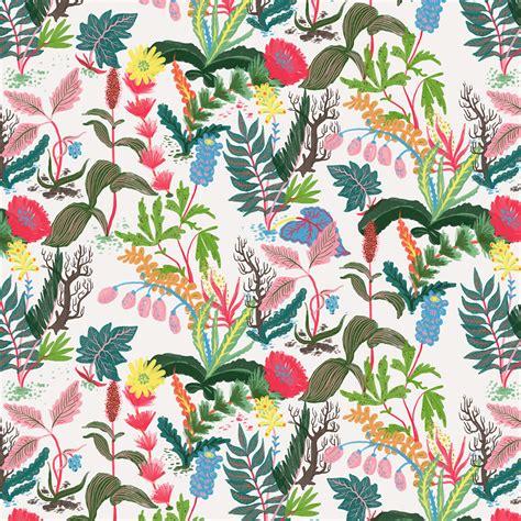 Custom Flowers Pattern 1 llew mejia llew mejia illustration surface design