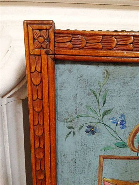 circa 18th century painted fireplace screen at 1stdibs