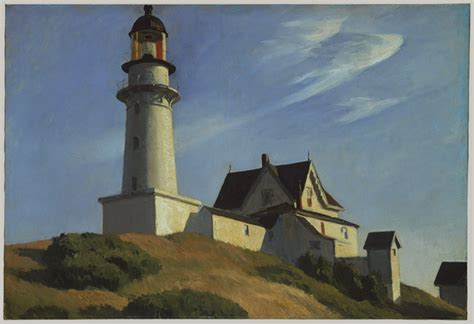 light house at lighthouse at two lights 1929 edward hopper wikiart org