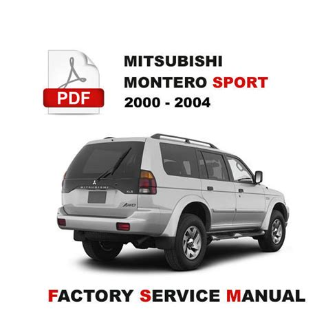 mitsubishi montero sport 2000 2001 2002 2003 2004 service repair shop fsm manual other books