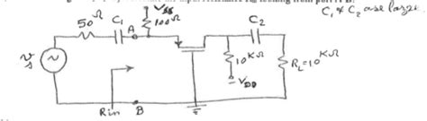 transistor common gate the circuit shows a pmos common gate lifier as chegg