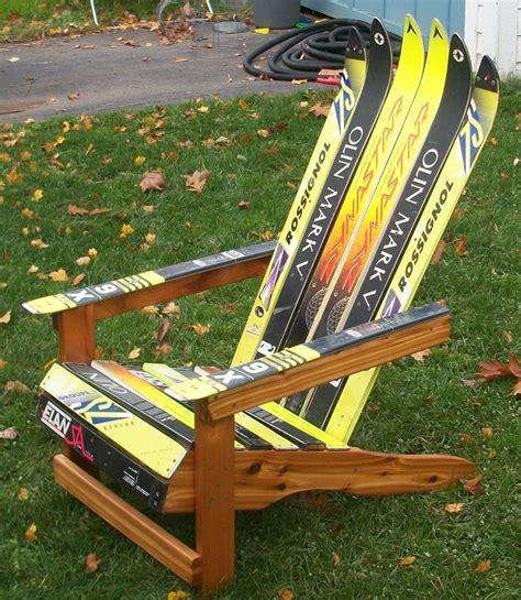make adirondack chair from skis diy adirondack ski chair diy