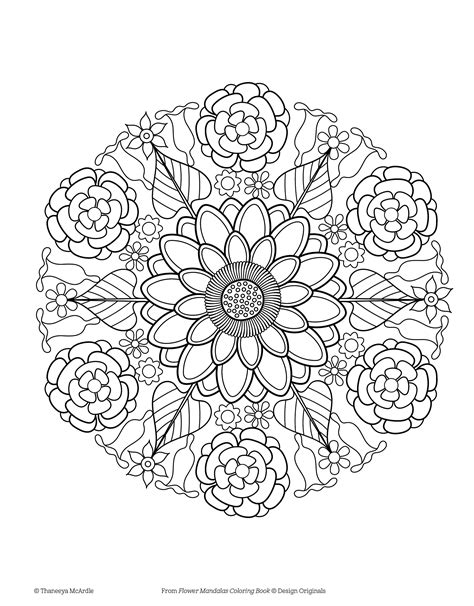 flower coloring book flower mandala coloring pages to print free coloring books