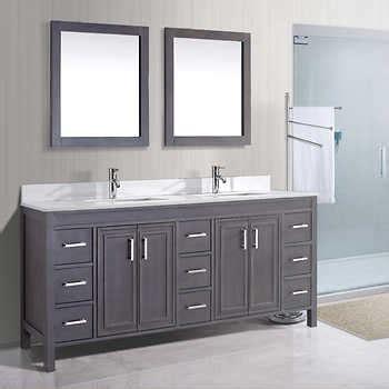costco bathroom vanities all bathroom vanities studio corniche 75 french gray double sink vanity by studio bathe
