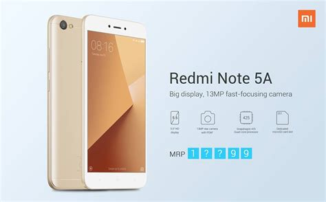 xiaomi redmi note 5a price in nepal specs features