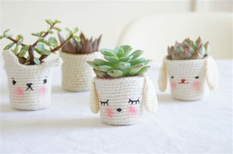 cute plants cute home decor puppy crochet cozy bunny succulent for the