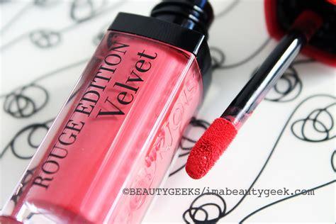 Lipstik Bourjois Matte bourjois edition velvet matte liquid lipstick oh my oh my beautygeeks