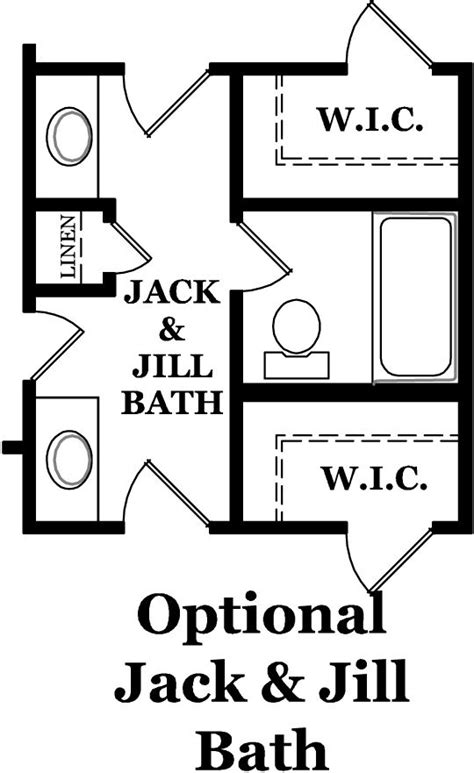 jack and jill bathroom layouts jack and jill bathroom nolen park heritage hancock optional second floor jack and