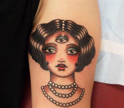 tattoo eye lady three eyed lady tattoo by angelique houtk design of