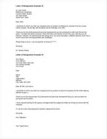 Letter Of Resignation Doc by 43 Resignation Letters In Doc Free Word Format