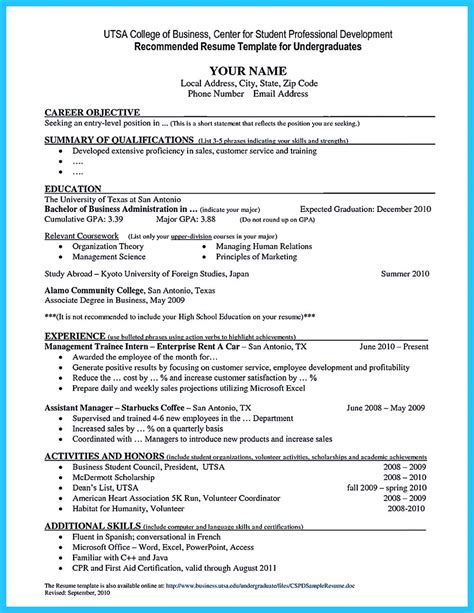 Business School Resume by Special Guides For Those Really Desire Best Business