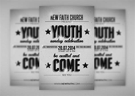 church ministry youth group brochure template design free creative