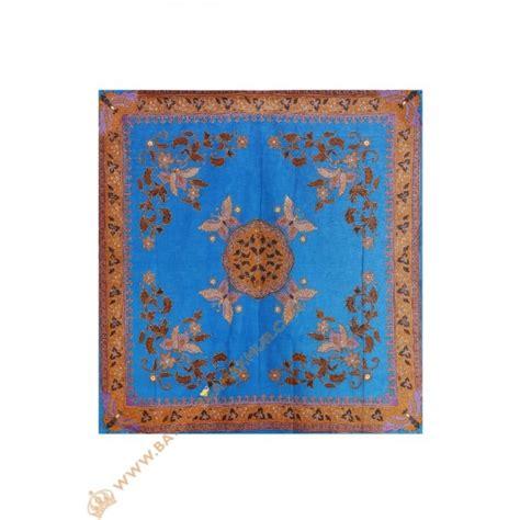 Taplak Meja Motif Bunga Coklat Pelindung Meja Dekorasi Rumah Tangga taplak meja tamu motif bunga dan kupu kupu warna biru