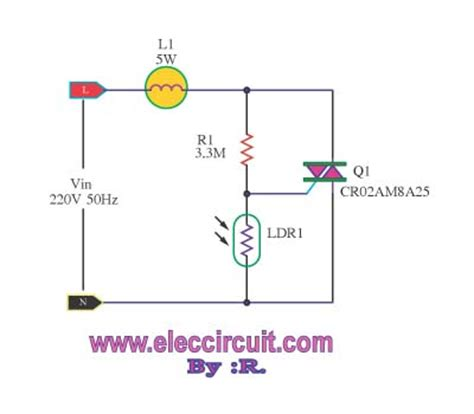 automatic light dimmer circuit electronic projects circuits