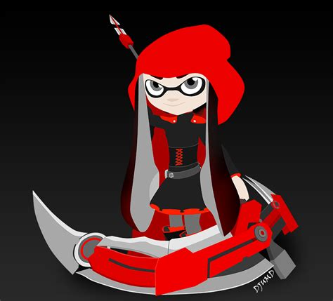 Kaos Anime Rwby Ruby 02 splatoon ruby rwby by djumd on deviantart