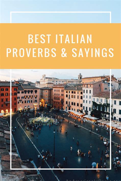 italian proverbs  american  rome