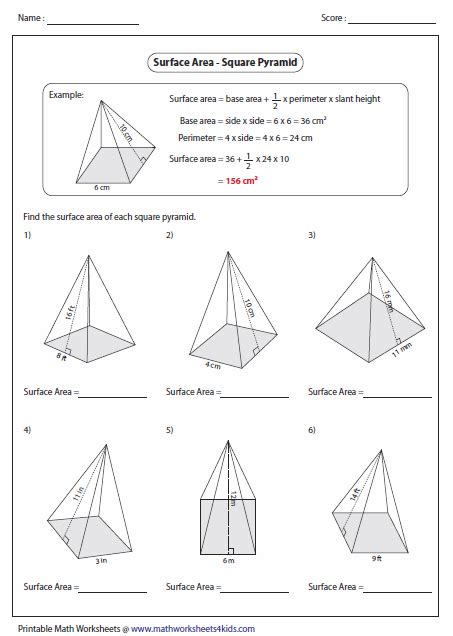 Surface Area Of A Sphere Worksheet by Surface Area Worksheets