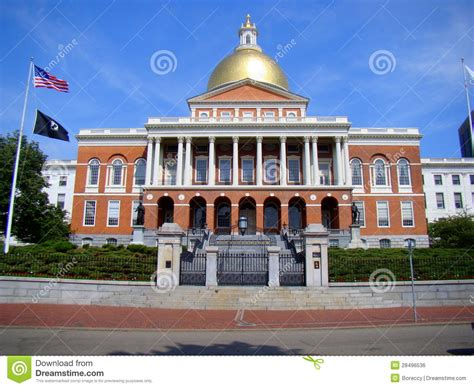 Free House Plans And Designs front elevation of massachusetts state house boston