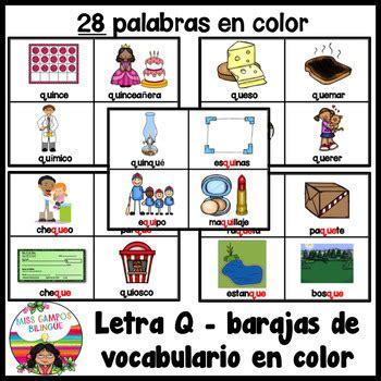 imagenes y palabras con k que qui letra q q by miss cos teachers pay teachers