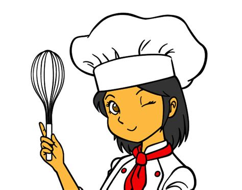 girl chef coloring page girl chef drawing www pixshark com images galleries