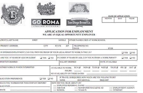printable job application vons corner bakery job application printable job application