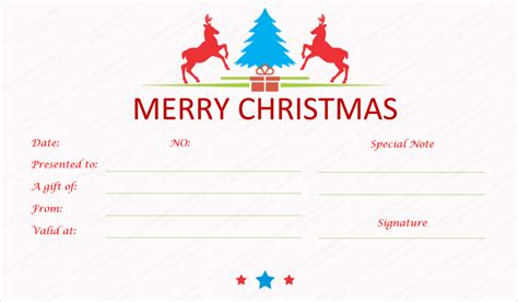 merry gift certificate templates merry gift certificate templates rainforest