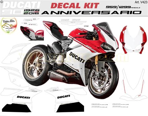 Ducati Sticker Logo by Vulturbike Ducati 959 1299 Panigale Anniversario Decal