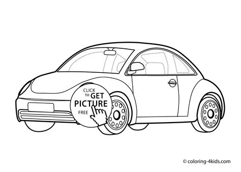 vw car coloring page car volkswagen beatle transportation coloring page for