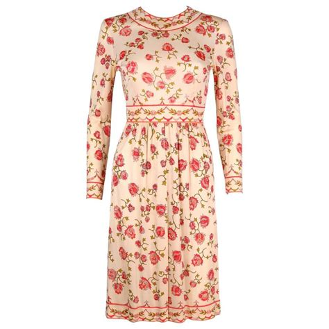 Emilio Pucci Girly Silk Dress by Emilio Pucci 1970s Signature Print Floral Silk