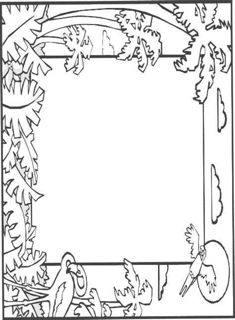 lined paper with rainforest border abcteach printable worksheet writing paper without lines