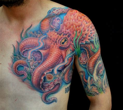 animal chest tattoos octopus tattoos designs ideas and meaning tattoos for you