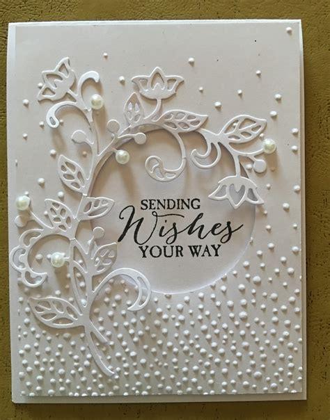 How To Make A Beautiful Handmade Folder - beautiful handmade card all white die cut