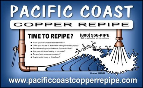 Pacific Coast Plumbing by Pacific Coast Copper Repipe Inc Plumbing Anaheim Ca Reviews Photos Yelp