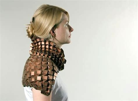 wearable metal origami looks like armor randommization