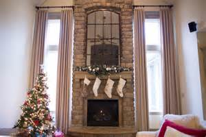 Decorating Mantels For Christmas Two Story Living Room Curtains
